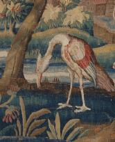 Aubusson tapestry 18th c. detail.